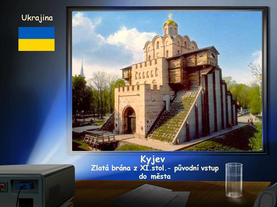 katedrála z XI.stol. Ukrajina Kyjev