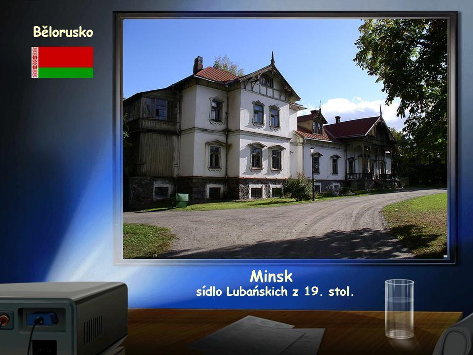 Bělorusko Minsk sídlo Lubańskich z 19. stol.