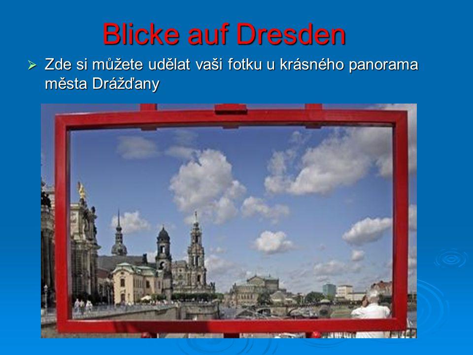Blicke auf Dresden  Zde si můžete udělat vaši fotku u krásného panorama města Drážďany