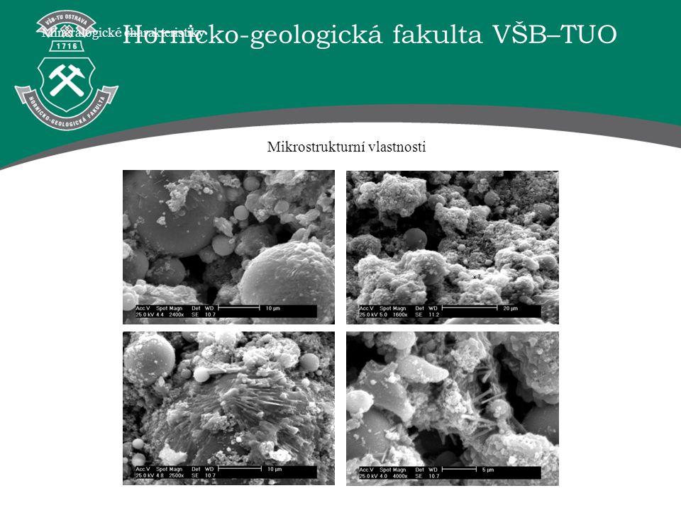 Hornicko-geologická fakulta VŠB–TUO Mineralogick é charakteristiky Mikrostrukturní vlastnosti