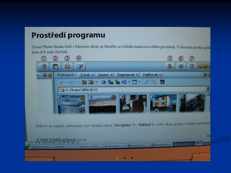 Organizace snímků ZPS 7 se chová obdobně jako průzkumník ve Windows Umožňuje kopírování a přesouvání souborů metodou táhni a pusť.