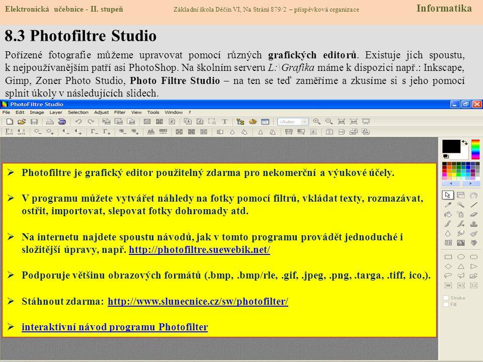 8.3 Photofiltre Studio Elektronická učebnice - II.