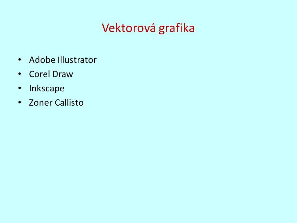 Vektorová grafika Adobe Illustrator Corel Draw Inkscape Zoner Callisto