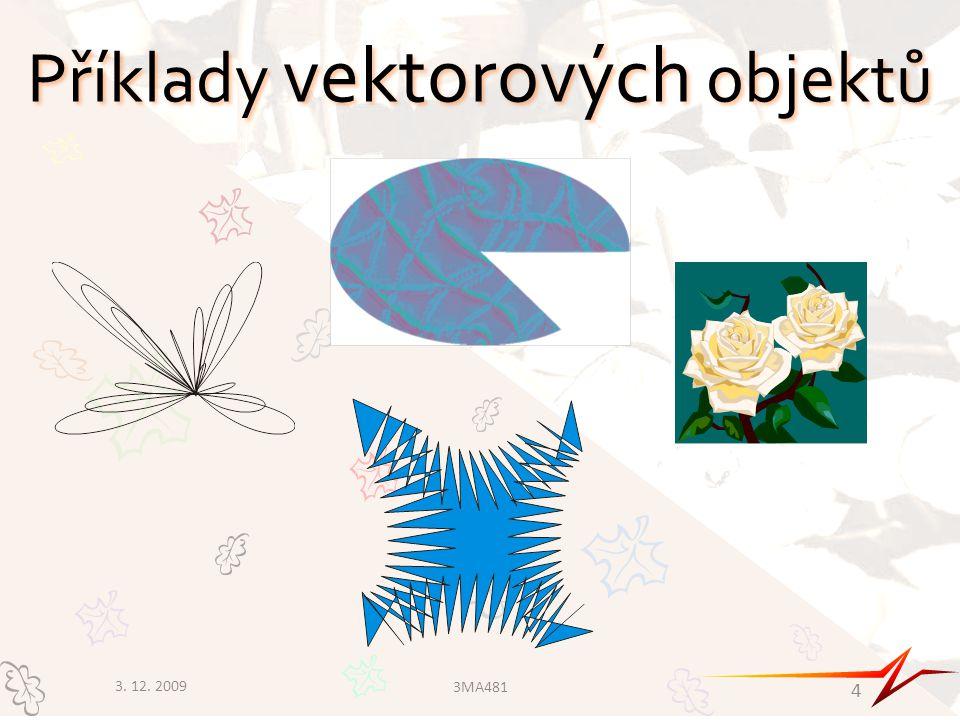 Příklady vektorových objektů 3. 12. 2009 3MA481 4