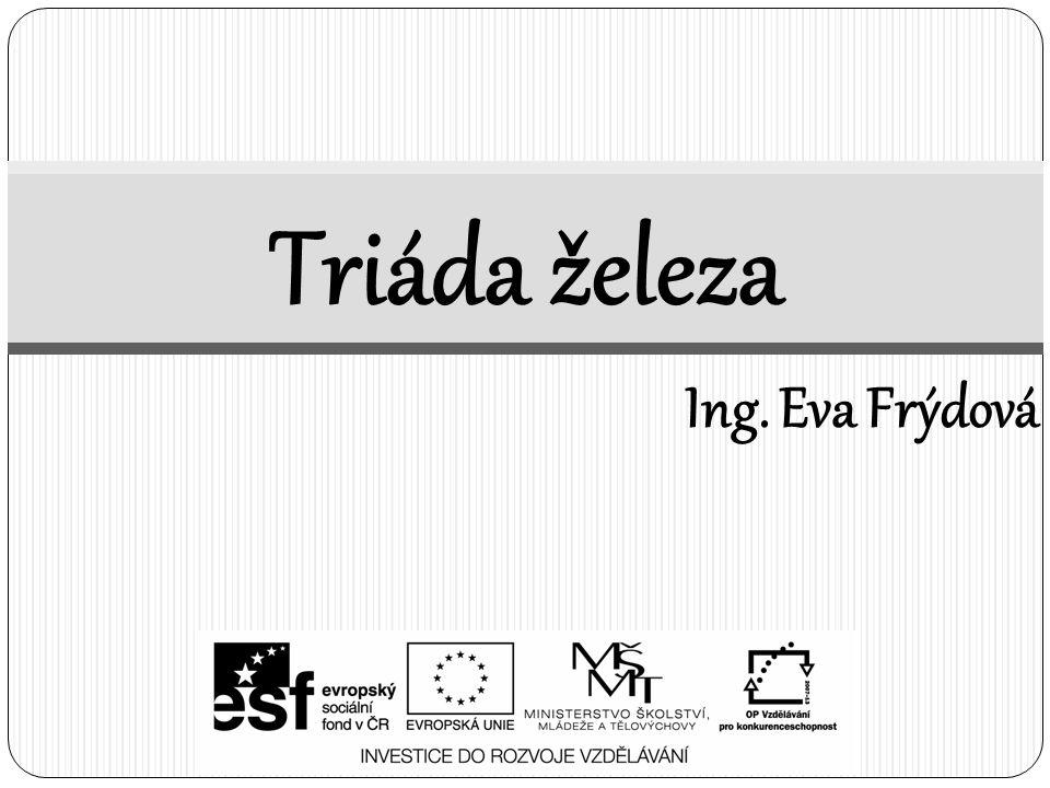 Triáda železa Ing. Eva Frýdová