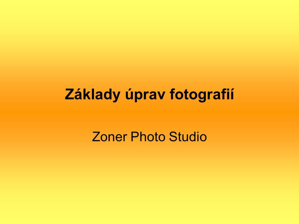 Základy úprav fotografií Zoner Photo Studio