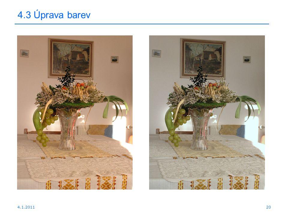 4.1.201120 4.3 Úprava barev