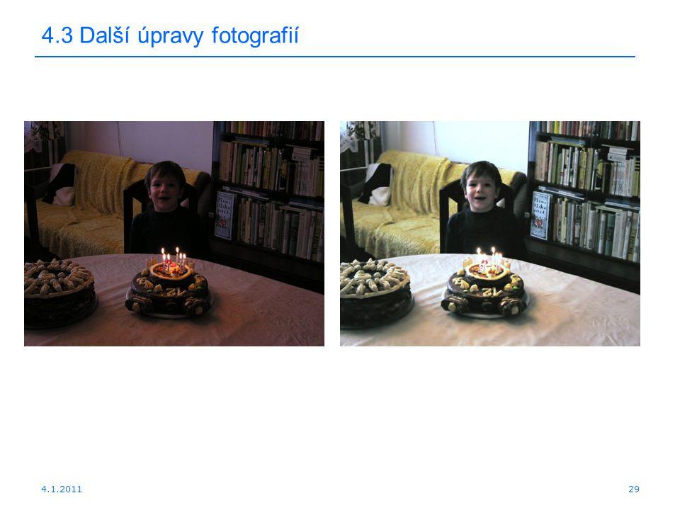 4.1.201129 4.3 Další úpravy fotografií