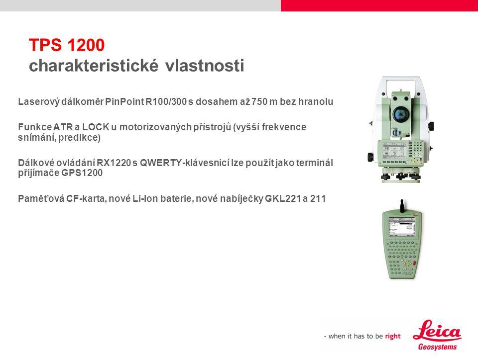 Laserový dálkoměr PinPoint R100/300 s dosahem až 750 m bez hranolu Funkce ATR a LOCK u motorizovaných přístrojů (vyšší frekvence snímání, predikce) Dá