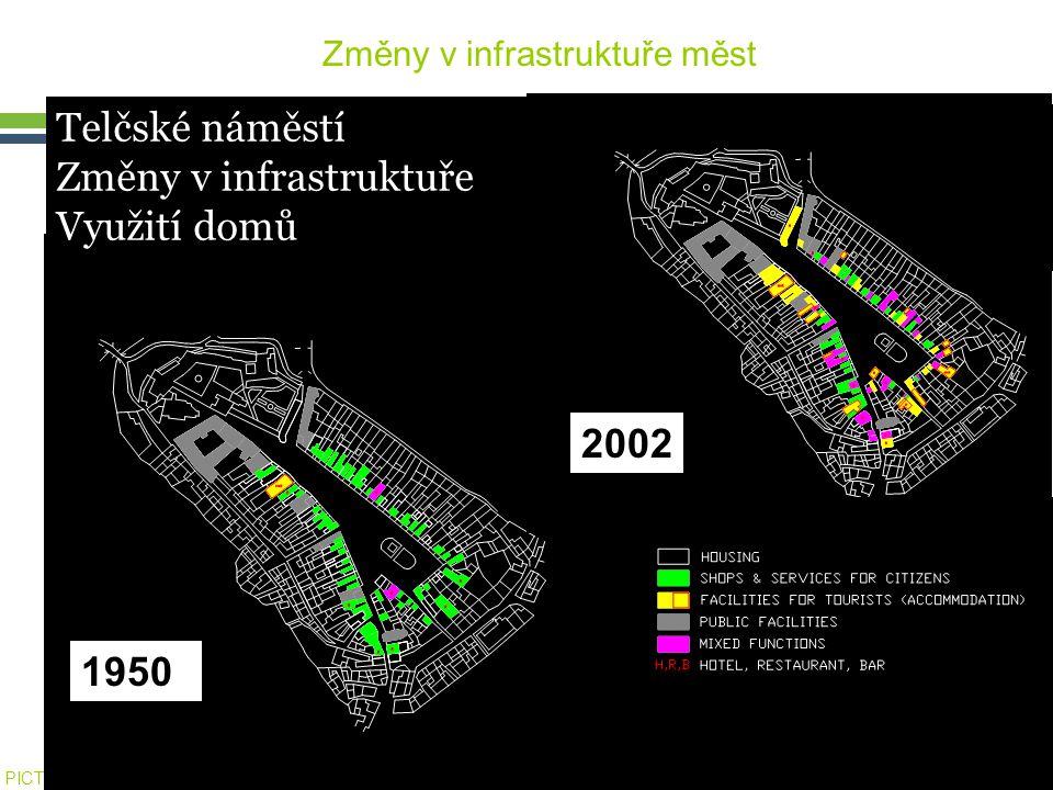 PICTURE ¬ Konference SHS ČMS – 20.října 2005 Tomáš Drdácký, ITAM 1950 2002 Změny v infrastruktuře měst Telčské náměstí Změny v infrastruktuře Využití