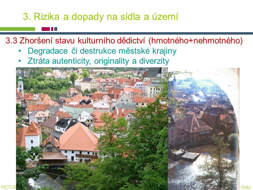 PICTURE ¬ Konference SHS ČMS – 20.října 2005 Tomáš Drdácký, ITAM 3.3 Zhoršení stavu kulturního dědictví (hmotného+nehmotného) Degradace či destrukce m