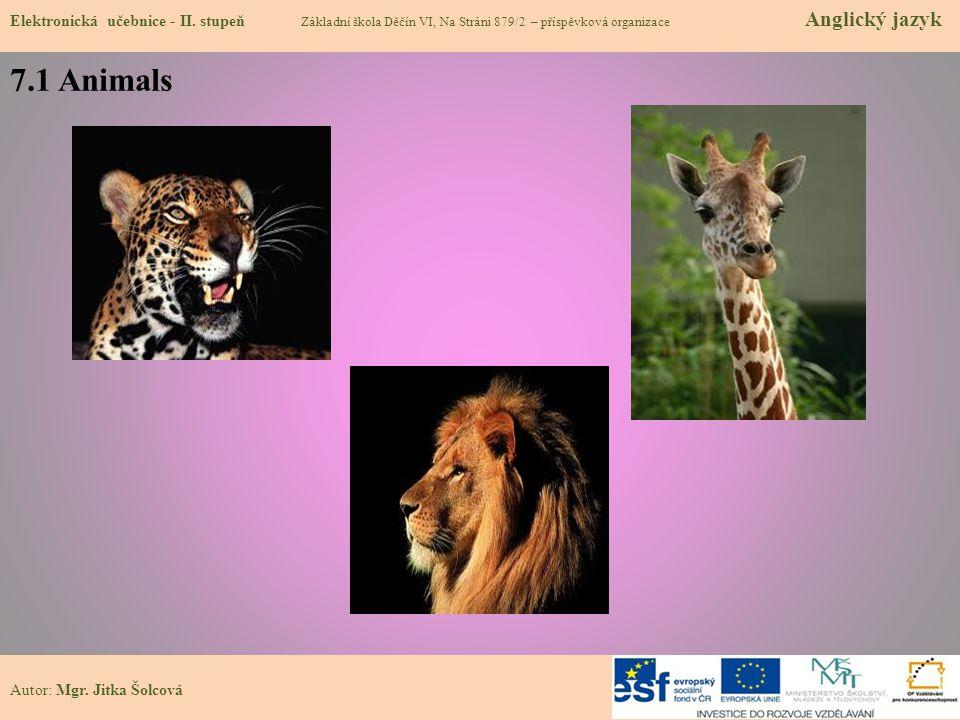 7.1 Animals Elektronická učebnice - II.