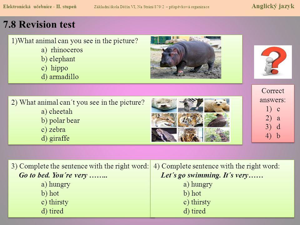 7.8 Revision test Elektronická učebnice - II.