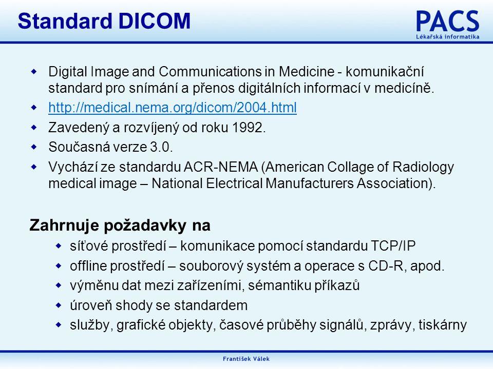  Digital Image and Communications in Medicine - komunikační standard pro snímání a přenos digitálních informací v medicíně.