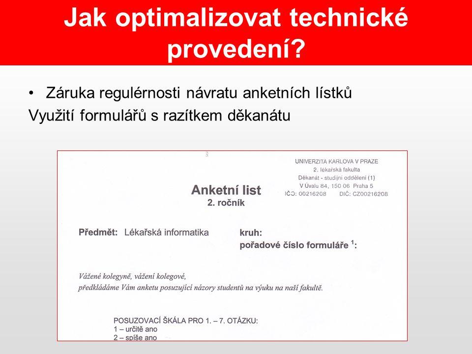 Jak optimalizovat technické provedení.