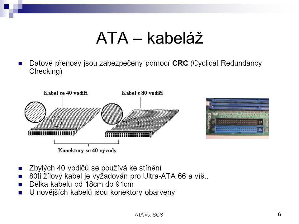 ATA vs. SCSI7 ATA – úrovně signálů (ATA100)