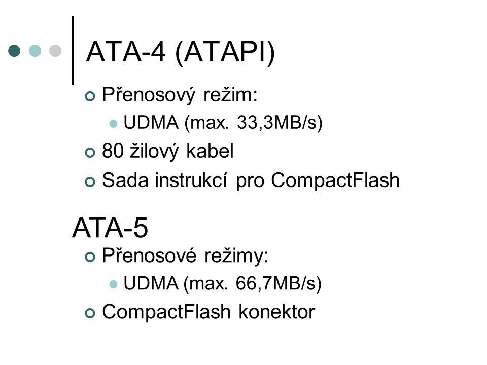 ATA-4 (ATAPI) Přenosový režim: UDMA (max.