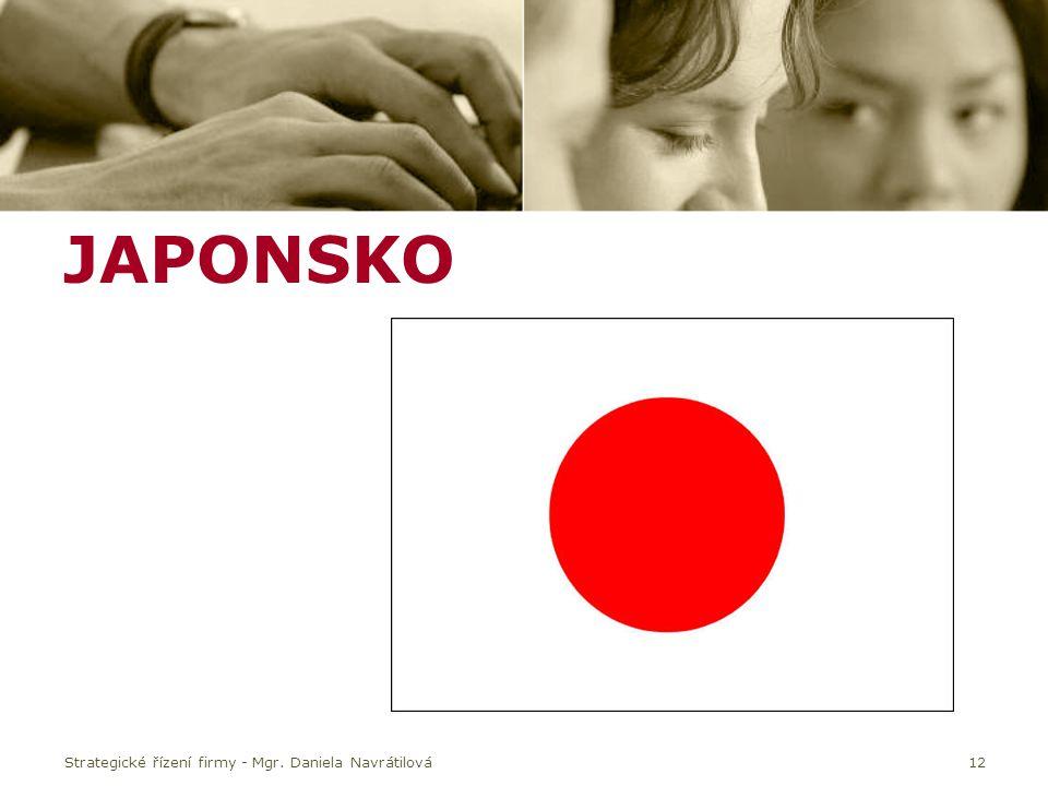 JAPONSKO Strategické řízení firmy - Mgr. Daniela Navrátilová12