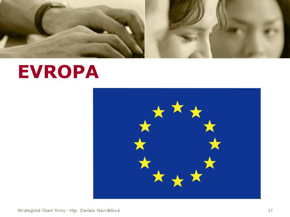 EVROPA Strategické řízení firmy - Mgr. Daniela Navrátilová17