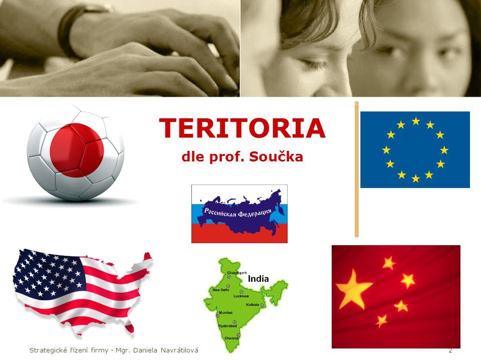 2 TERITORIA dle prof. Součka Strategické řízení firmy - Mgr. Daniela Navrátilová