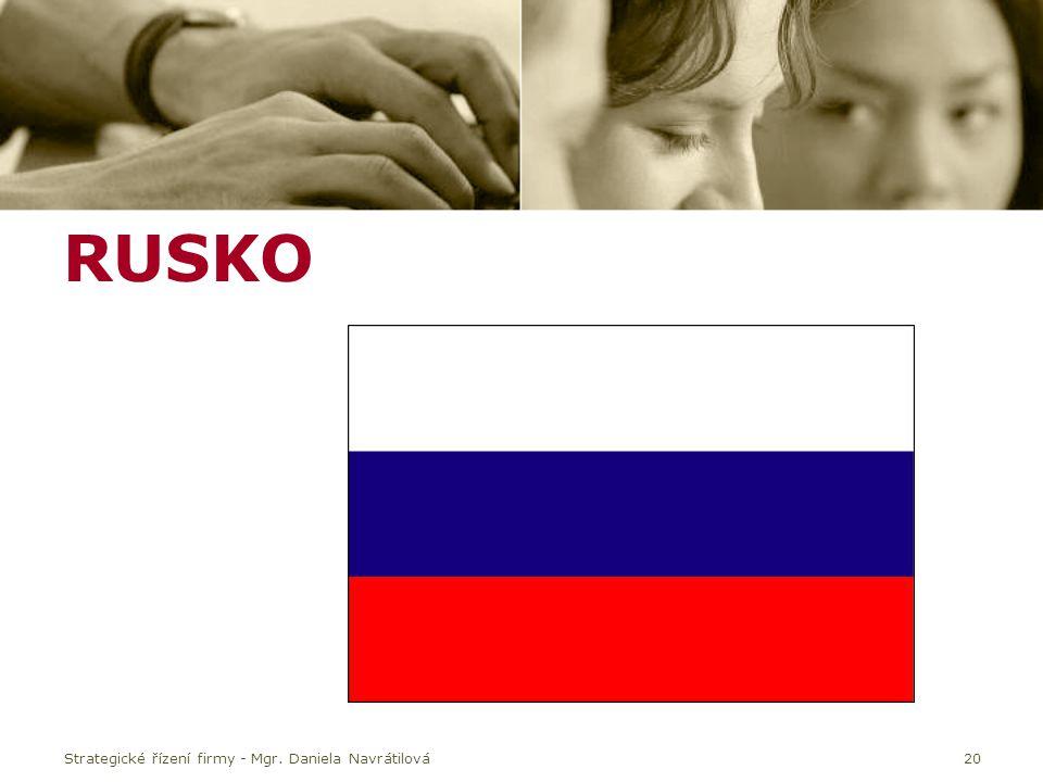 RUSKO Strategické řízení firmy - Mgr. Daniela Navrátilová20