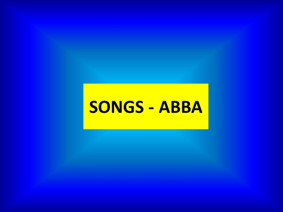 Píseň Abba – poslech, práce s textem. Anotace: Žáci si v prezentaci procvičí poslech a čtení, což je podpořeno vizuálně a sluchově. Žáci také pracují