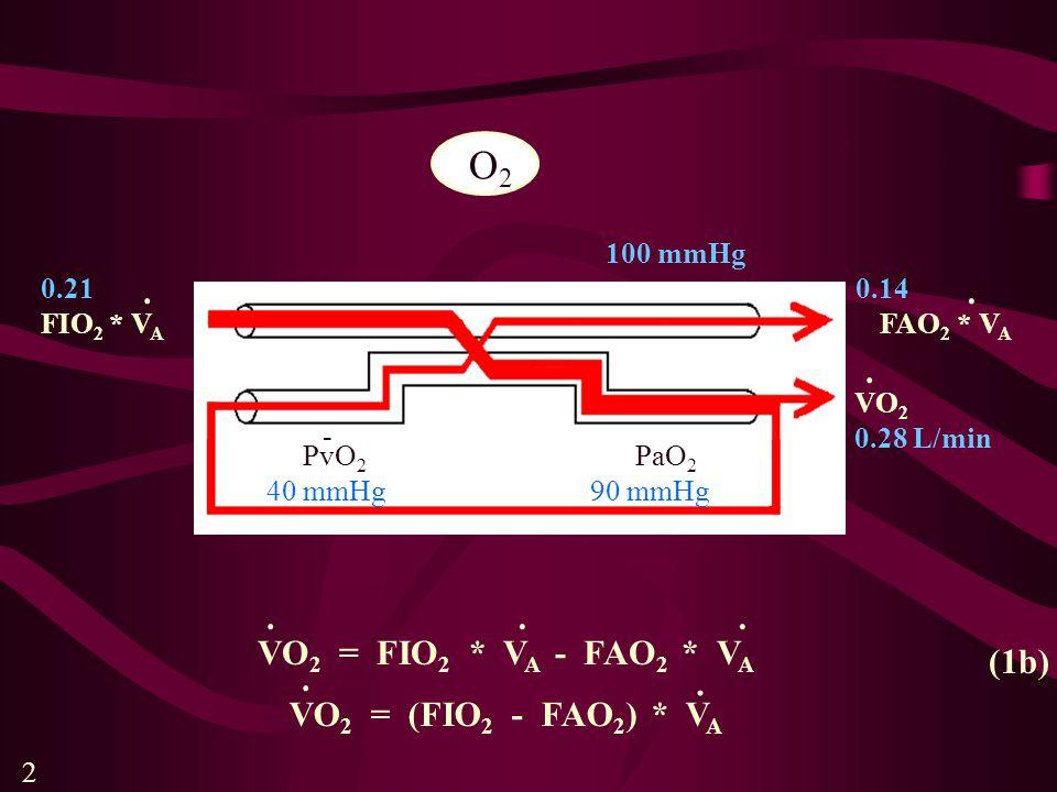 Ventilačně perfuzní křivku pro jednotlivý alveolus je možné snadno odvodit intuitivně (obr. 8). 8
