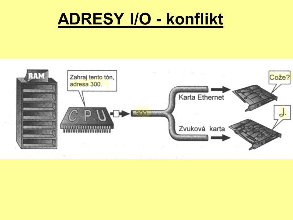 PŘENOS DAT MEZI RAM A PERIFERIÍ prostřednictvím PIO (programovaný vstup/výstup) prostřednictvím DMA (přímý přístup do paměti) PIO pomalejší než DMA