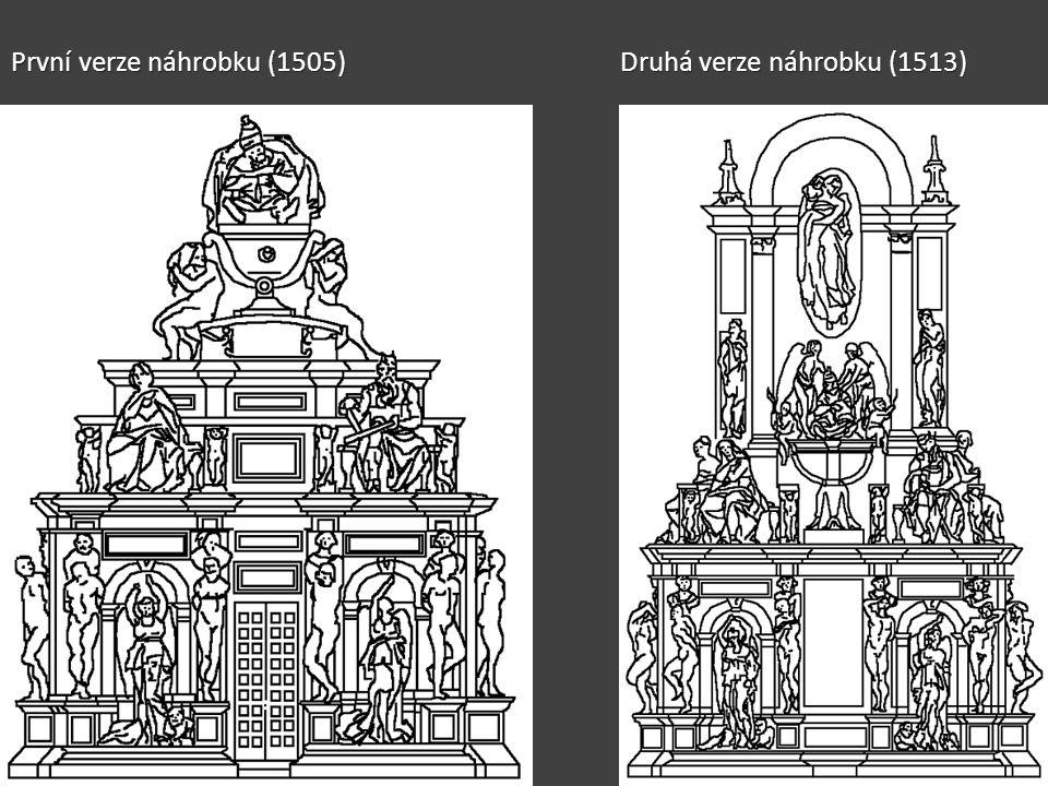 První verze náhrobku (1505) Druhá verze náhrobku (1513)