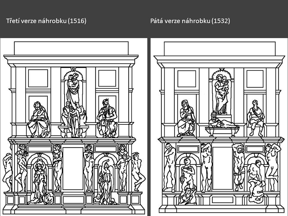 Třetí verze náhrobku (1516)Pátá verze náhrobku (1532)