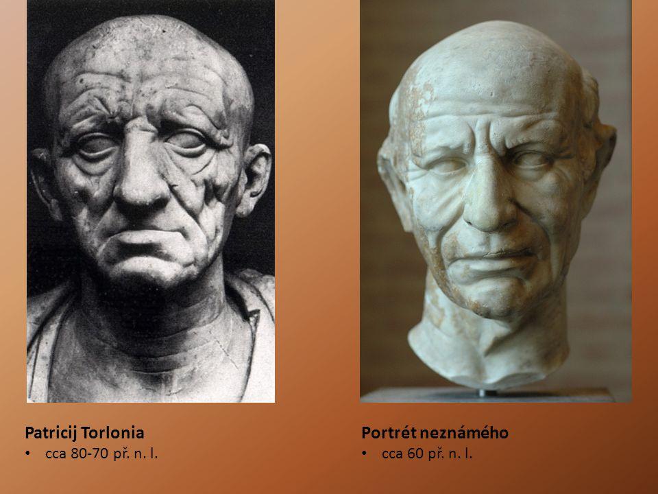 Patricij Torlonia cca 80-70 př. n. l. Portrét neznámého cca 60 př. n. l.