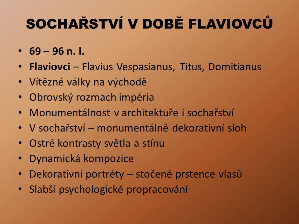 SOCHAŘSTVÍ V DOBĚ FLAVIOVCŮ 69 – 96 n.l.