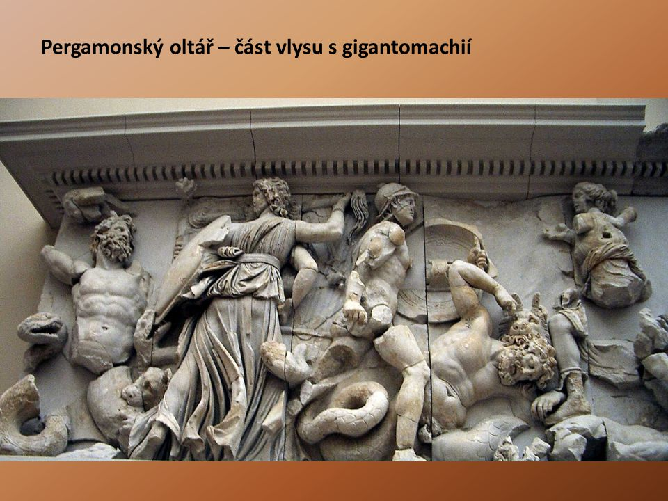 Pergamonský oltář – část vlysu s gigantomachií