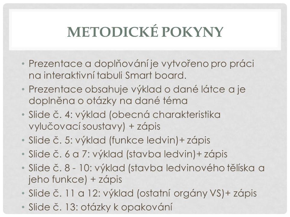 ZDROJE INFORMACÍ KVASNIČKOVÁ, L.Ekologický přírodopis 8.