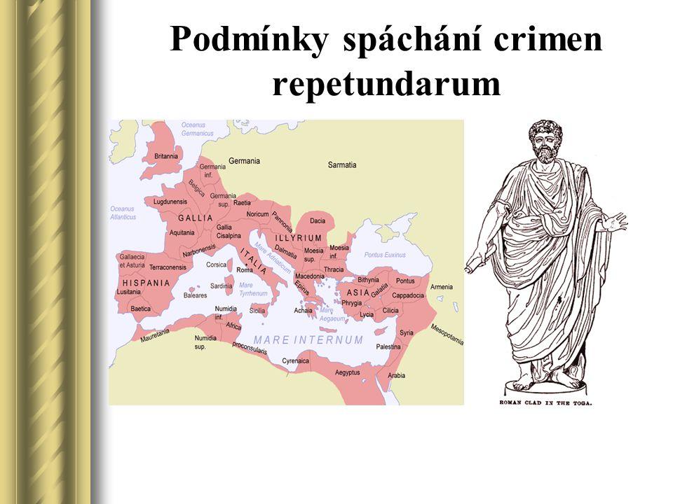 První zprávy o vydírání provincií Jedním z prvních případů o hrabivé správě provincie o kterých máme z pramenů zprávu (Livius Ab Urbe condita XLIII, 2) je z doby konzulátu Publia Lucinia Crassa a Gaia Cassia Ligna - rok 171 př.