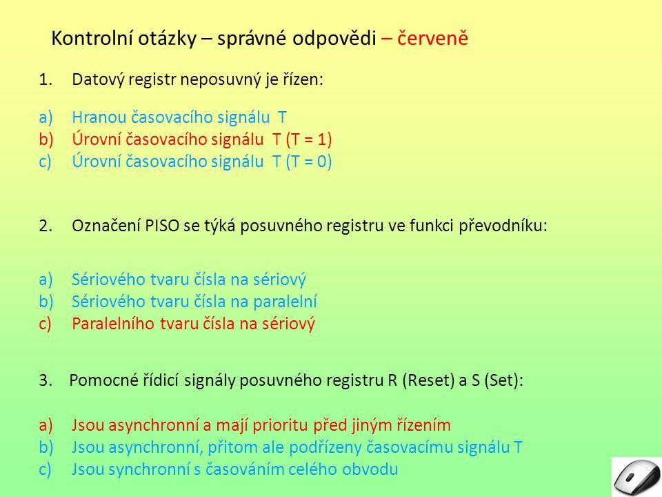 Seznam obrázků: Obr.1: vlastní, Blokové schéma datového registru Obr.