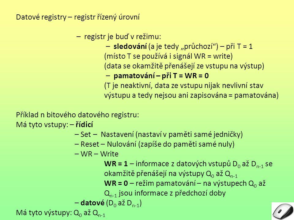 Datové registry – registr řízený úrovní Obr.