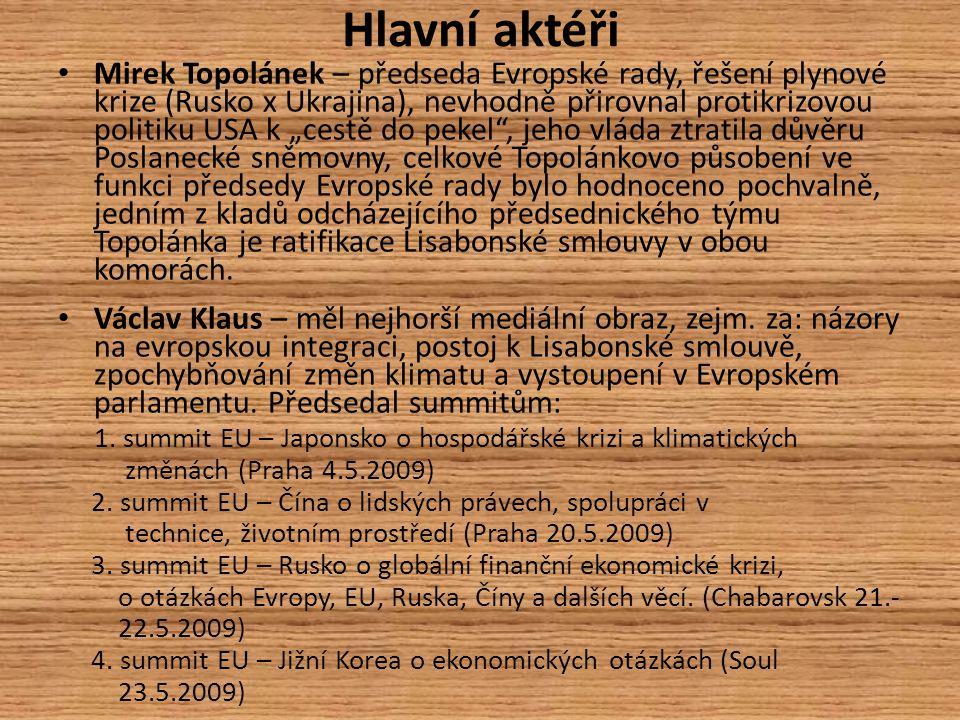 Mediální obraz českého předsednictví Z regionálních deníků se o české předsednictví nejvíce zajímaly např.