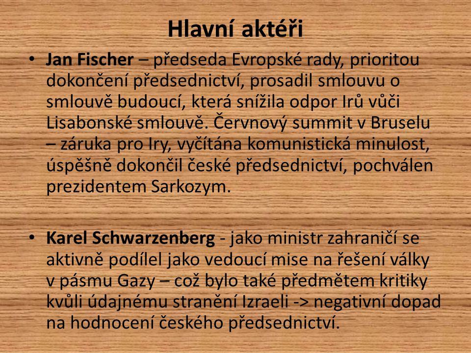 Mediální obraz českého předsednictví České předsednictví bylo ale celkově hodnoceno dobře, když i přes pád vlády, nástup Jana Fišera jako předsedy a dosavadní nezkušenost ČR, byly průběžně řešeny problémy, které se za dobu českého předsednictví objevily.