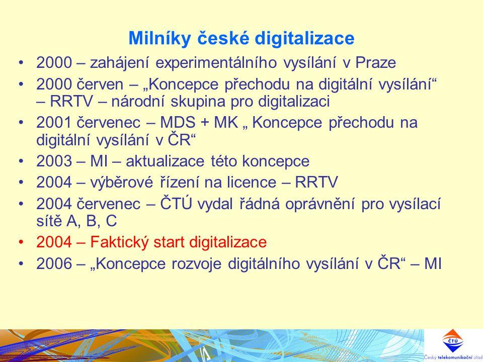 Milníky české digitalizace Právní rámec TPP Usnesení vlády ČR č.