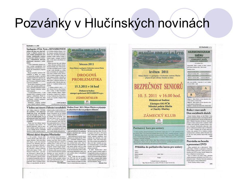 Pozvánky v Hlučínských novinách