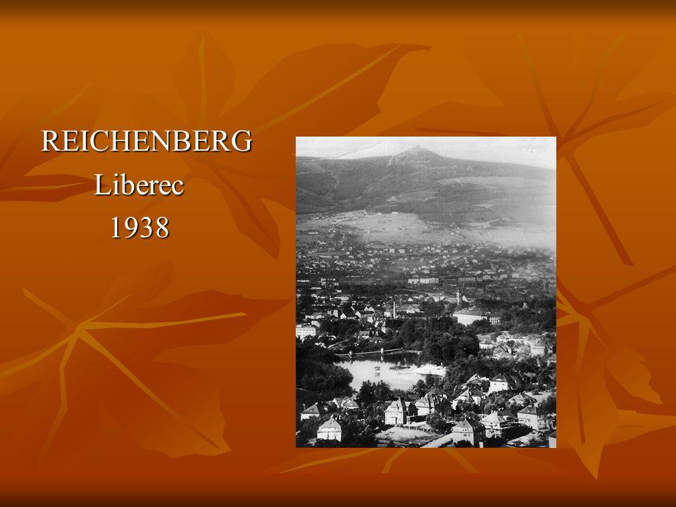 REICHENBERG Liberec Liberec 1938 1938