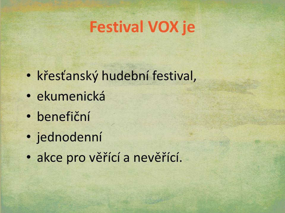 Festival VOX je křesťanský hudební festival, ekumenická benefiční jednodenní akce pro věřící a nevěřící.