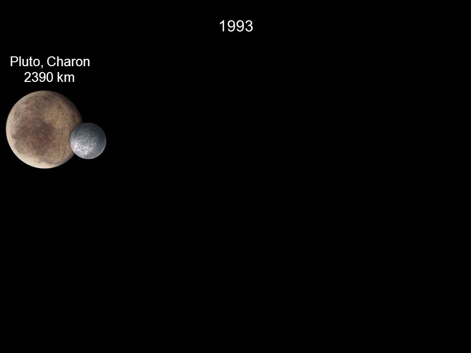 1993 Pluto, Charon 2390 km