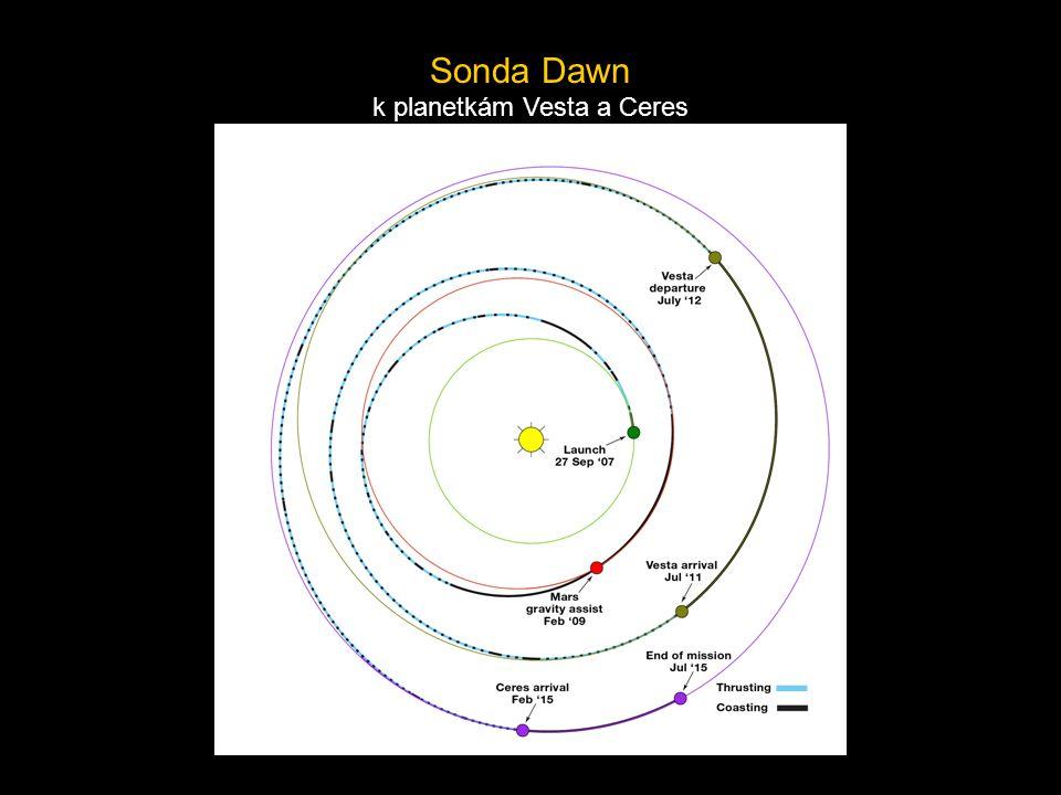 Sonda Dawn k planetkám Vesta a Ceres