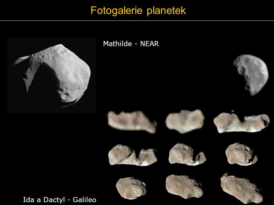 Fotogalerie planetek Mathilde - NEAR Ida a Dactyl - Galileo