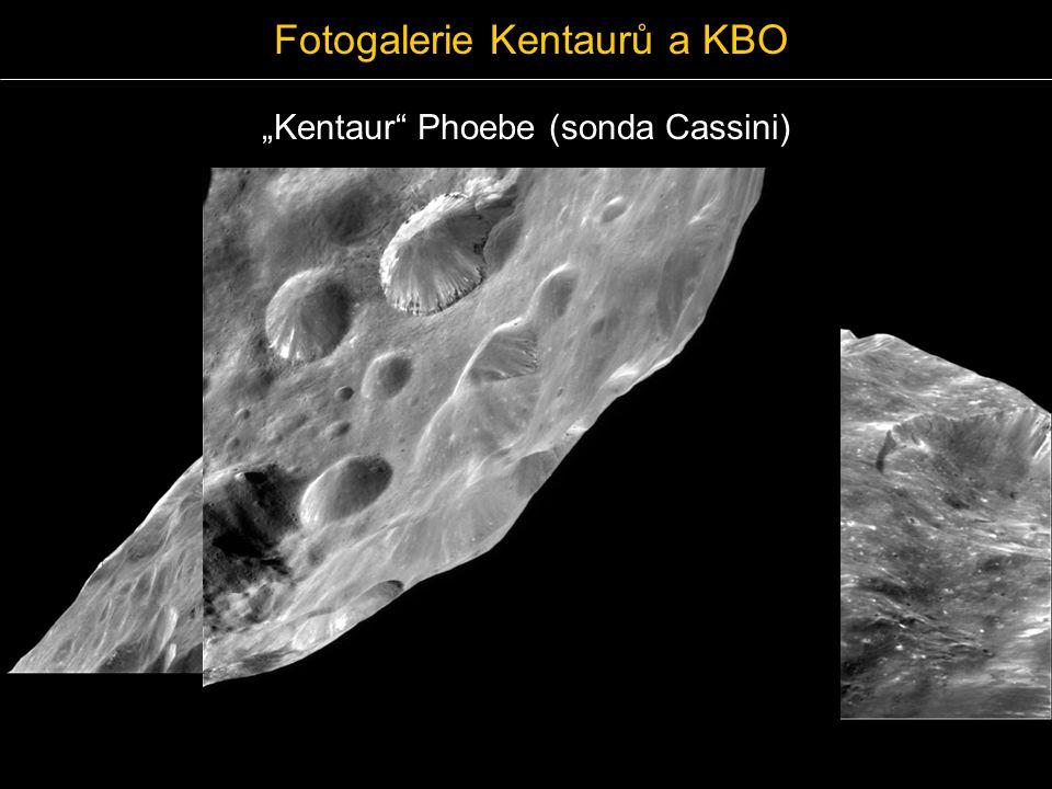 """Fotogalerie Kentaurů a KBO """"Kentaur"""" Phoebe (sonda Cassini)"""