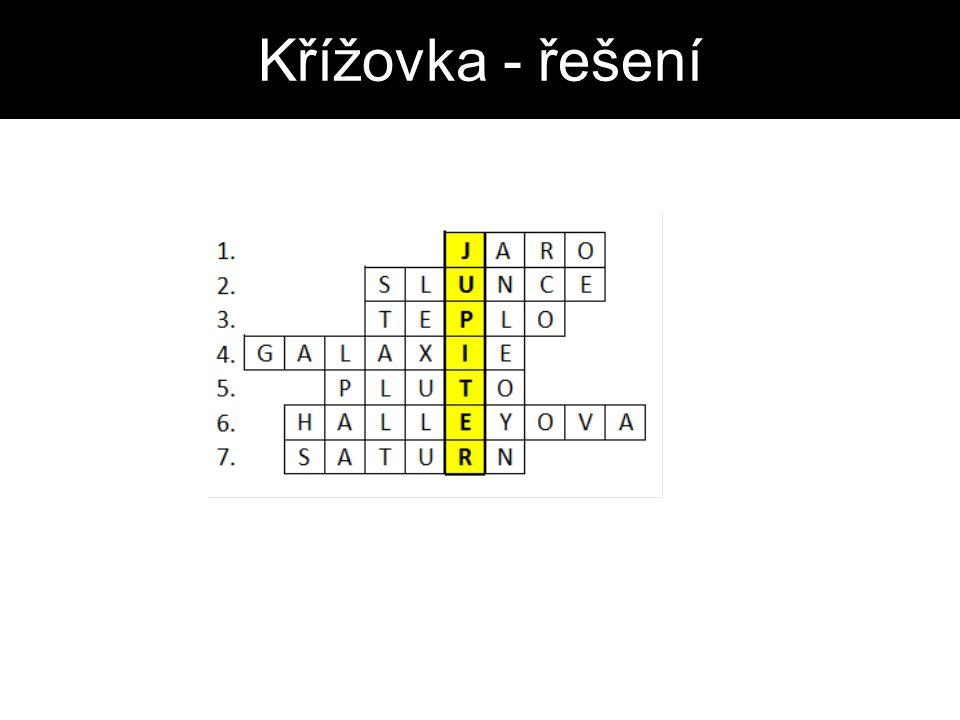 Křížovka - řešení