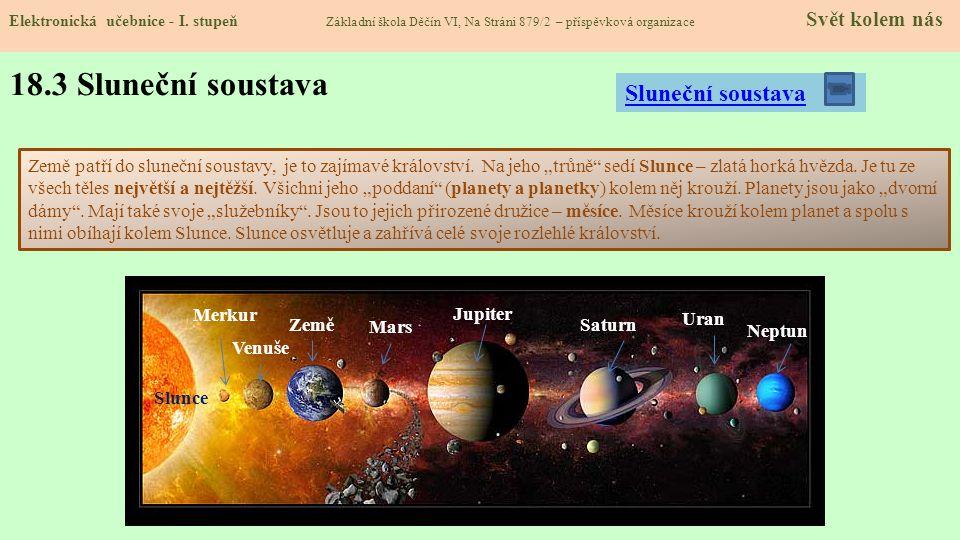 18.3 Sluneční soustava Elektronická učebnice - I.