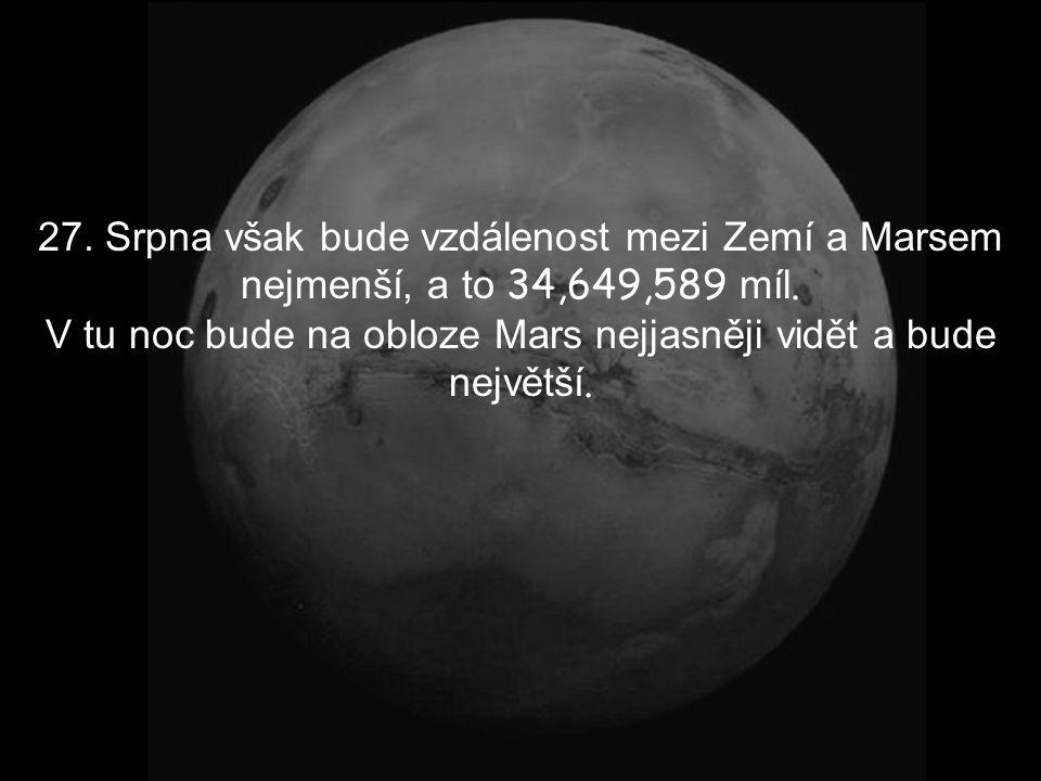 V tomto měsíci Země Mars budou tak blízko sebe, že se v celé historii lidstva ještě na takovou vzdálenost nepřiblížili. T ohle všechno zaviní přítažli